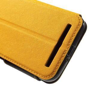 Diary peněženkové pouzdro s okýnkem na Asus Zenfone Max - žluté - 7