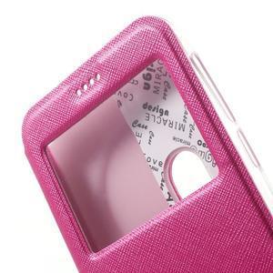 Peněženkové pouzdro s okýnkem na Asus Zenfone Zoom - rose - 7