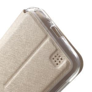 Peňaženkové puzdro s okienkom pre Asus Zenfone Zoom - zlaté - 7