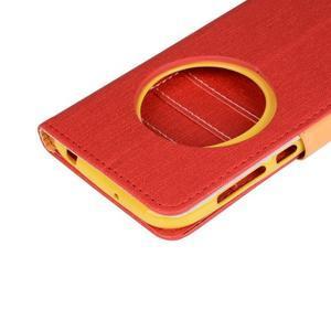 PU kožené puzdro pre Asus Zenfone Zoom - červené - 7