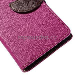 Zapínací PU kožené pouzdro na Huawei P8 Lite -rose - 7