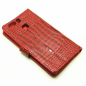 Croco peněženkové pouzdro na Huawei P9 - červené - 7