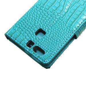 Croco peněženkové pouzdro na Huawei P9 - modré - 7