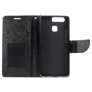 Crossy peňaženkové puzdro na Huawei P9 - čierne - 7
