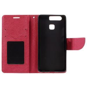 Crossy peňaženkové puzdro na Huawei P9 - červené - 7