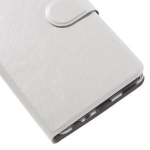 Horsa PU kožené puzdro na Huawei P9 - biele - 7