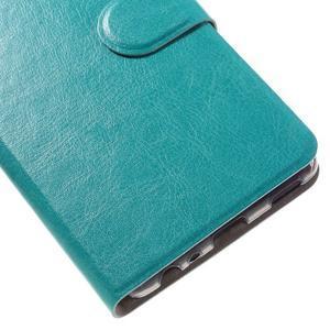 Horsa PU kožené puzdro na Huawei P9 - modré - 7