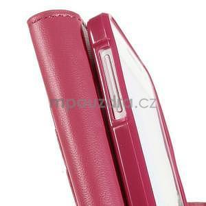 Rose kožené peňaženkové puzdro pre Samsung Galaxy A3 - 7