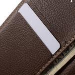 Čierné/hnedé kožené puzdro pre Samsung Galaxy A3 - 7/7