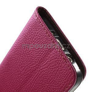 Rose/hnedé kožené puzdro na Samsung Galaxy A3 - 7