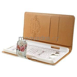 Peňaženkové zapínací puzdro na Samsung Galaxy A5 - růže elegant - 7
