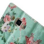 Peňaženkové zapínací puzdro na Samsung Galaxy A5 - kytice - 7/7