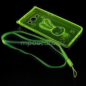 Zelený gélový obal s nastavitelným stojánkem na Samsung Galaxy A5 - 7