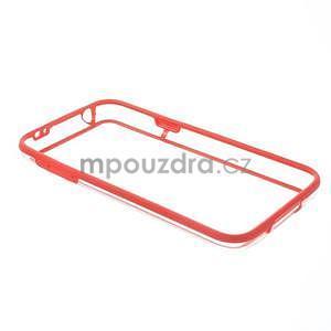 Červený gélový kryt s plastovými lemy pre Samsung Galaxy S5 mini - 7