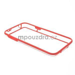 Červený gelový kryt s plastovými lemy na Samsung Galaxy S5 mini - 7