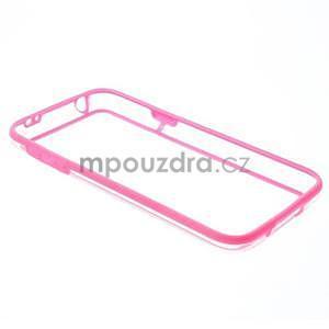 Rose gélový kryt s plastovými lemy pre Samsung Galaxy S5 mini - 7
