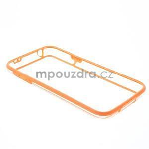 Oranžový gélový kryt s plastovými lemy pre Samsung Galaxy S5 mini - 7