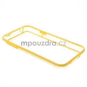 Žltý gélový kryt s plastovými lemy pre Samsung Galaxy S5 mini - 7