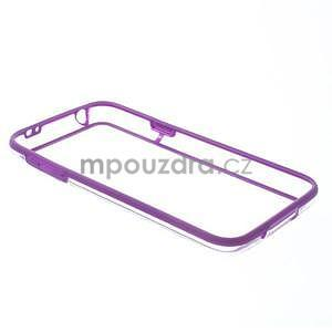 Fialový gelový kryt s plastovými lemy na Samsung Galaxy S5 mini - 7