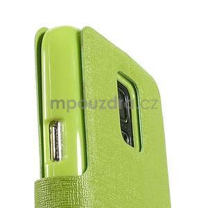 Zelené zapínací pouzdro na Samsung Galaxy S5 mini - 7