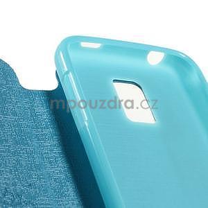 Světle modré  zapínací pouzdro na Samsung Galaxy S5 mini - 7