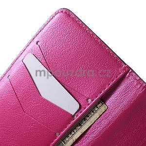 Zapínací peněženkové pouzdro na Samsung Galaxy S5 mini - květinové srdce - 7