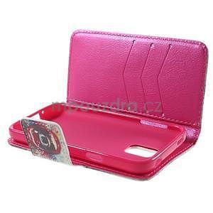 Zapínací peňaženkové puzdro pre Samsung Galaxy S5 mini - oko - 7