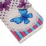Styles peňaženkové puzdro pre mobil Lenovo A319 - motýľe - 7/7