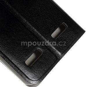 Peňaženkové PU kožené puzdro pre Lenovo A6000 - čierne - 7