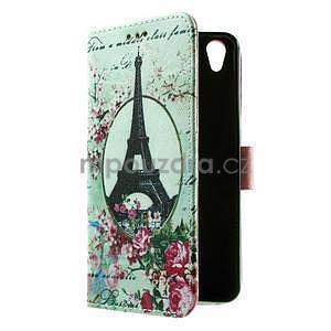 PU kožené peňaženkové puzdro na Lenovo S850 - Eiffelova veža - 7