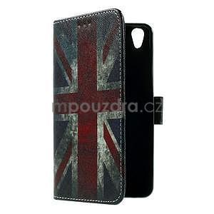PU kožené peňaženkové puzdro pre Lenovo S850 - UK vlajka - 7