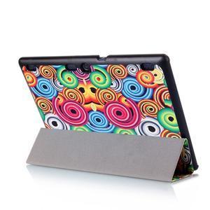 Polohovatelné puzdro pre tablet Lenovo Tab 2 A10-70 - farebné kruhy - 7