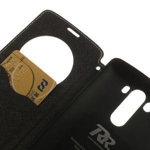 Diary puzdro s okienkom na mobil LG G3 - biele - 7