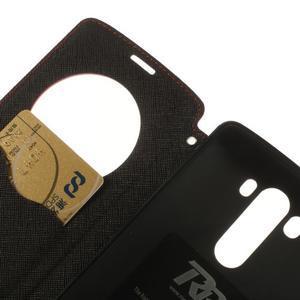 Diary pouzdro s okýnkem na mobil LG G3 - červené - 7