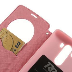 Diary puzdro s okienkom na mobil LG G3 - rose - 7