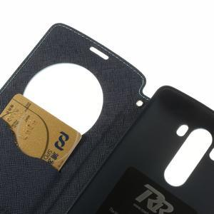 Diary puzdro s okienkom na mobil LG G3 - svetlomodré - 7