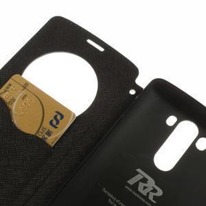 Diary puzdro s okienkom na mobil LG G3 - tmavomodré - 7