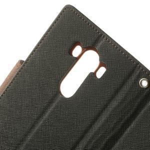 Goos peňaženkové puzdro pre LG G3 - čierne/hnedé - 7