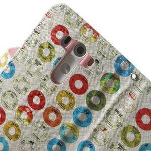 Obrázkové pouzdro na mobil LG G3 - barevná kolečka - 7