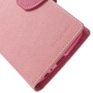 Goos peněženkové pouzdro na LG G3 - růžové - 7