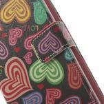 Ultra motive peněženkové pouzdro na LG G3 - barevná srdíčka - 7/7
