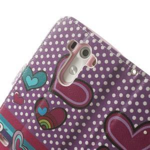 Ultra motive peňaženkové puzdro pre LG G3 - srdiečka - 7