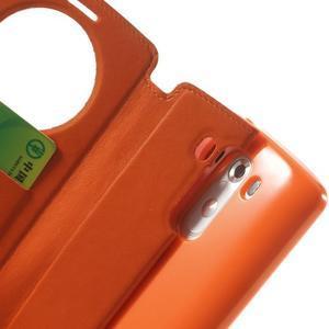 Roar peňaženkové puzdro s okienkom na LG G3 - oranžové - 7