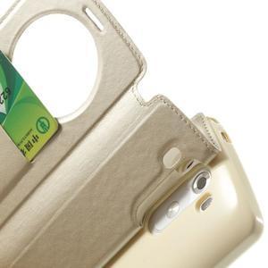 Roar peněženkové pouzdro s okýnkem na LG G3 - zlaté - 7