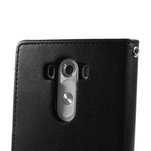 Luxusní PU kožené puzdro pre mobil LG G3 - čierne - 7