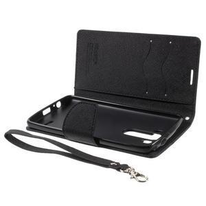 Cross PU kožené pouzdro na LG G3 - černé - 7