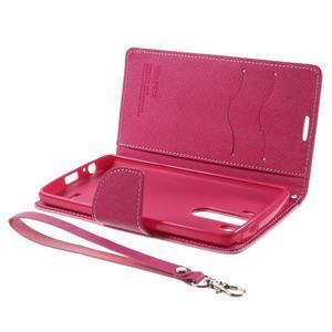 Cross PU kožené pouzdro na LG G3 - růžové - 7