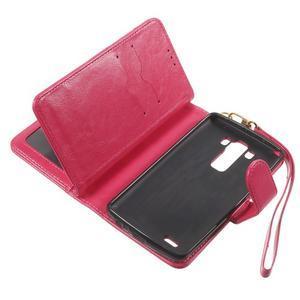 Patrové peňaženkové puzdro pre mobil LG G3 - rose - 7