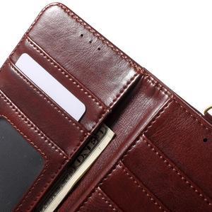 Patrové peňaženkové puzdro pre mobil LG G3 - hnedé - 7