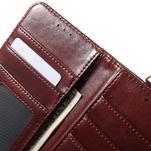 Patrové peňaženkové puzdro pre mobil LG G3 - hnedé - 7/7